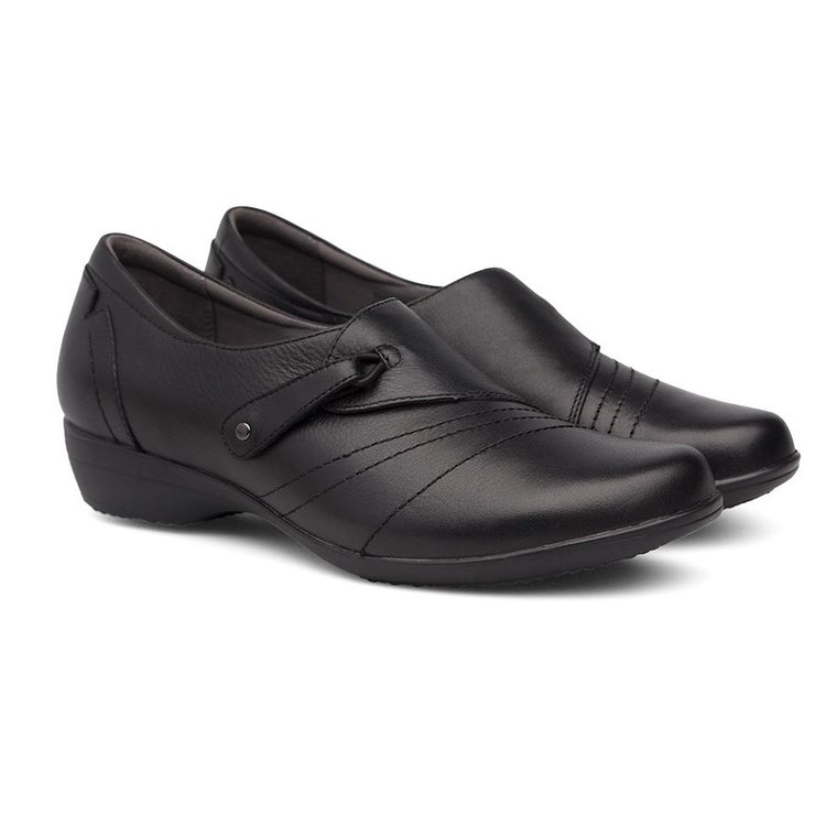 Women's Dansko Franny Wide - Black Milled Nappa