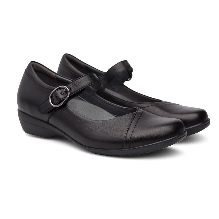 Women's Dansko Fawna Wide - Black Milled Nappa