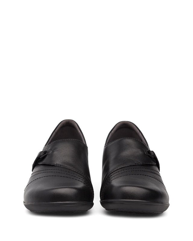 Women's Dansko Franny - Black Milled Nappa