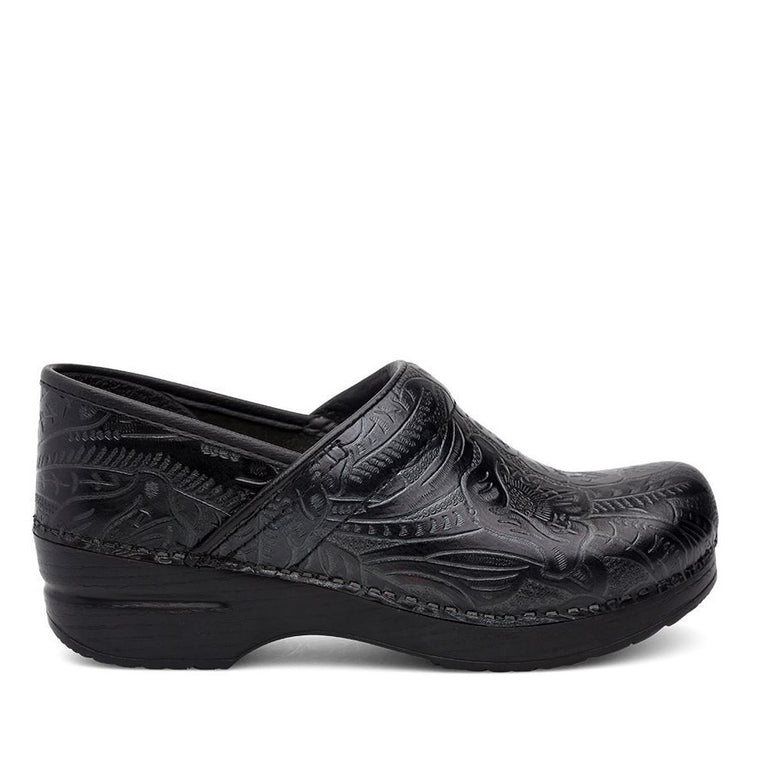 Dansko Women's Professional Clog - Black Tooled