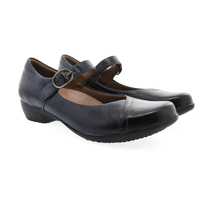 Women's Dansko Fawna - Navy Burnished Calf