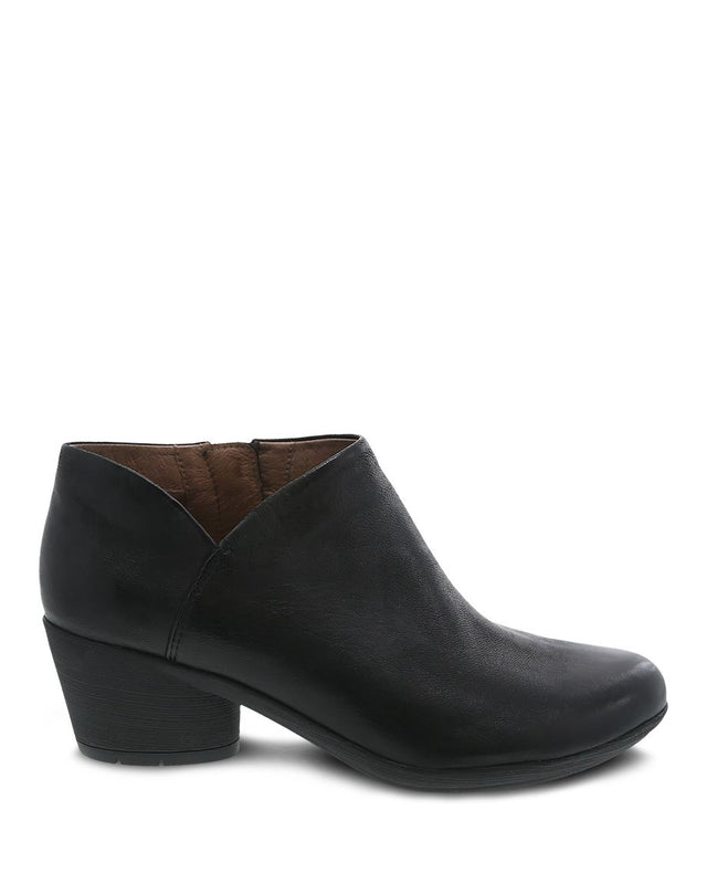 Women's Dansko Raina Bootie - Black Burnished Nubuck