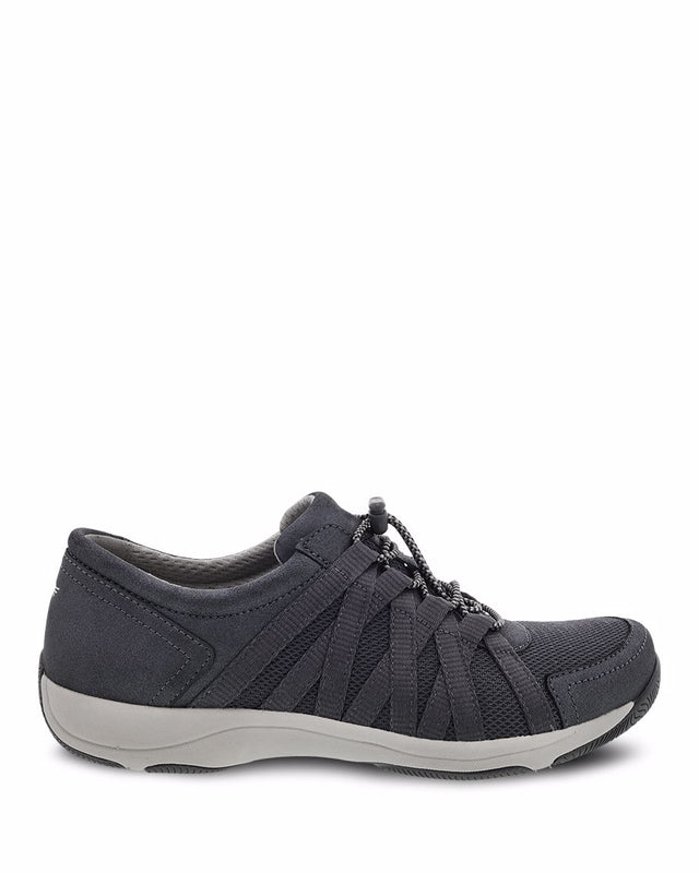 Women's Dansko Honor Wide - Charcoal/Metallic Suede