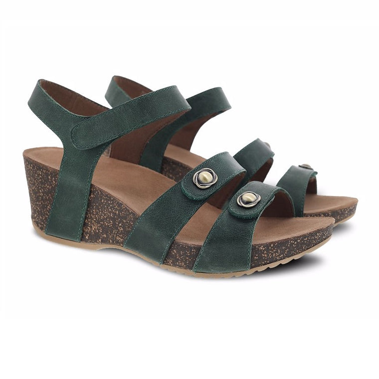 Women's Dansko Savannah - Green Waxy Burnished