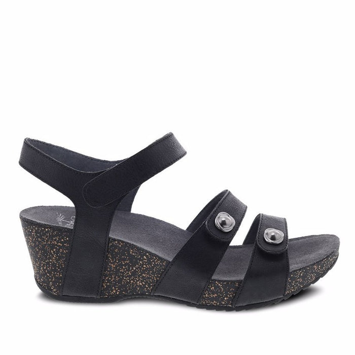 Dansko Women's Savannah Sandals - Black Waxy Burnished