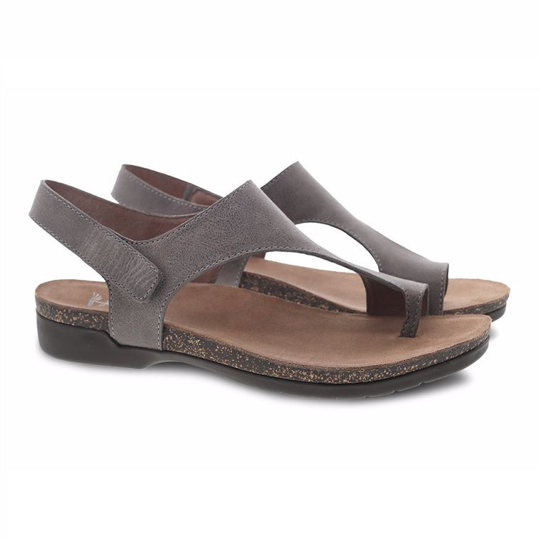 Dansko Women's Reece Sandal - Stone Waxy Burnished