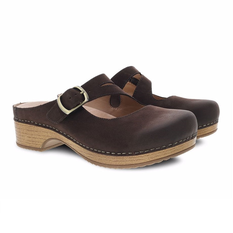 Women's Dansko Britney - Chocolate Burnished Nubuck