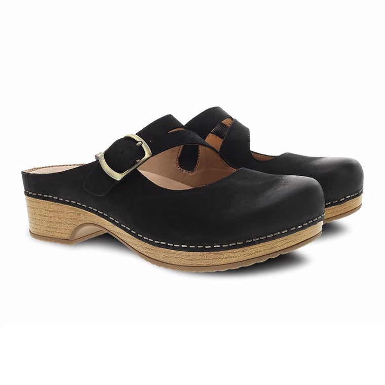 Women's Dansko Britney - Black Burnished Nubuck