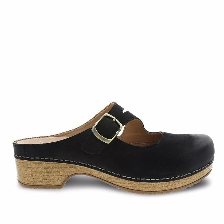Dansko Women's Britney Mule - Black Burnished Nubuck