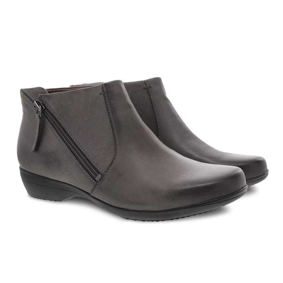 Women's Dansko Fifi Bootie - Grey Burnished Nubuck