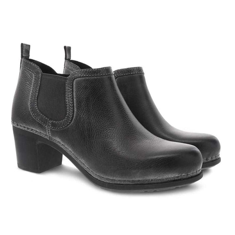 Women's Dansko Harlene Bootie - Charcoal Distressed