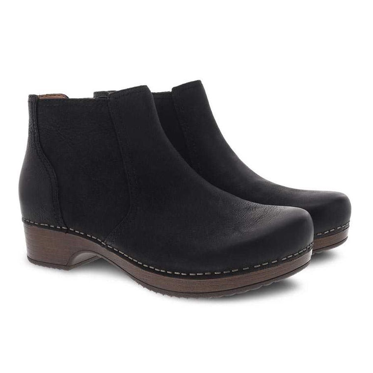 Women's Dansko Barbara Bootie - Black Burnished Nubuck