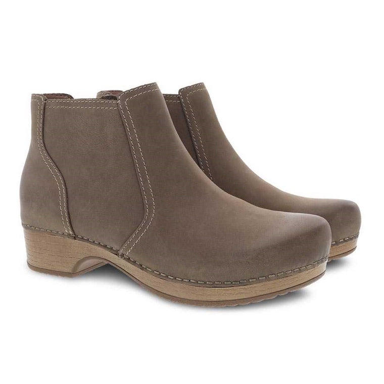 Women's Dansko Barbara Bootie - Taupe Burnished Nubuck
