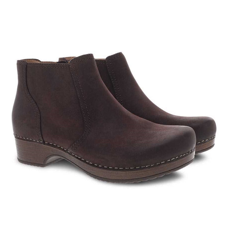 Women's Dansko Barbara Bootie - Chocolate Burnished Nubuck
