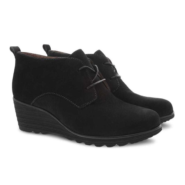 Women's Dansko Cadee Wedge - Black Nubuck