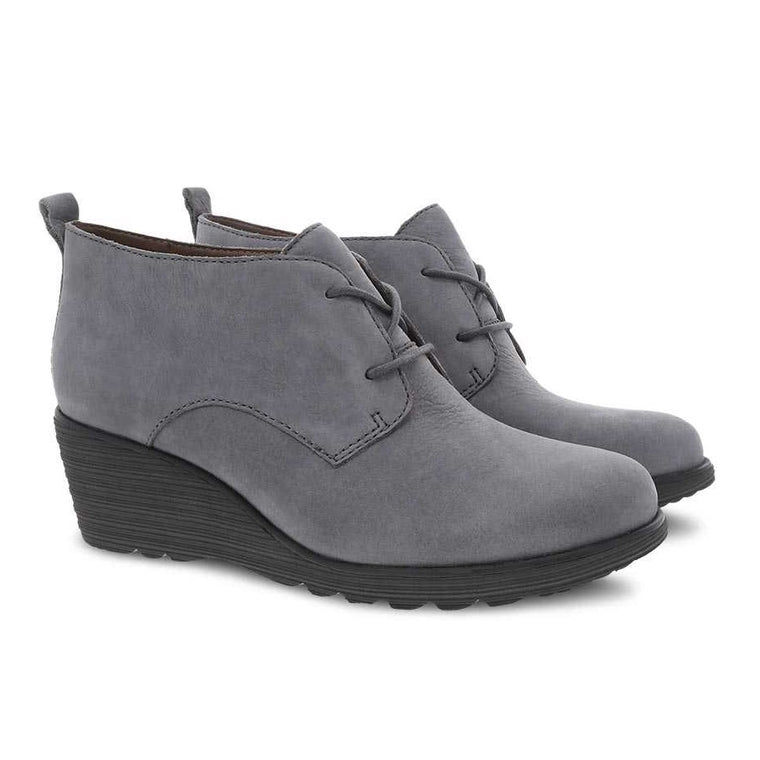 Women's Dansko Cadee Wedge - Grey Nubuck