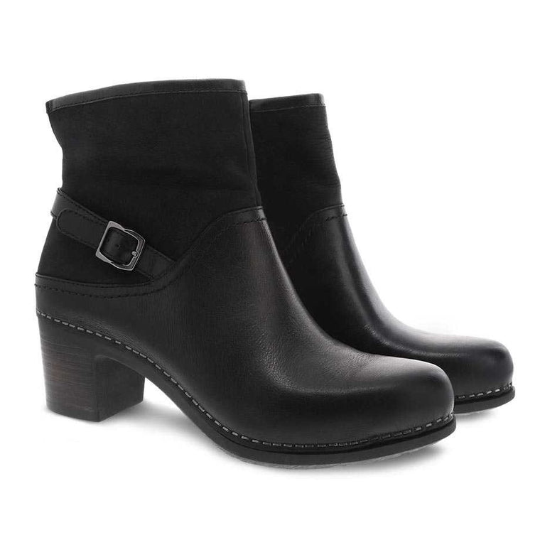 Women's Dansko Hayley Boot - Black Milled Calf