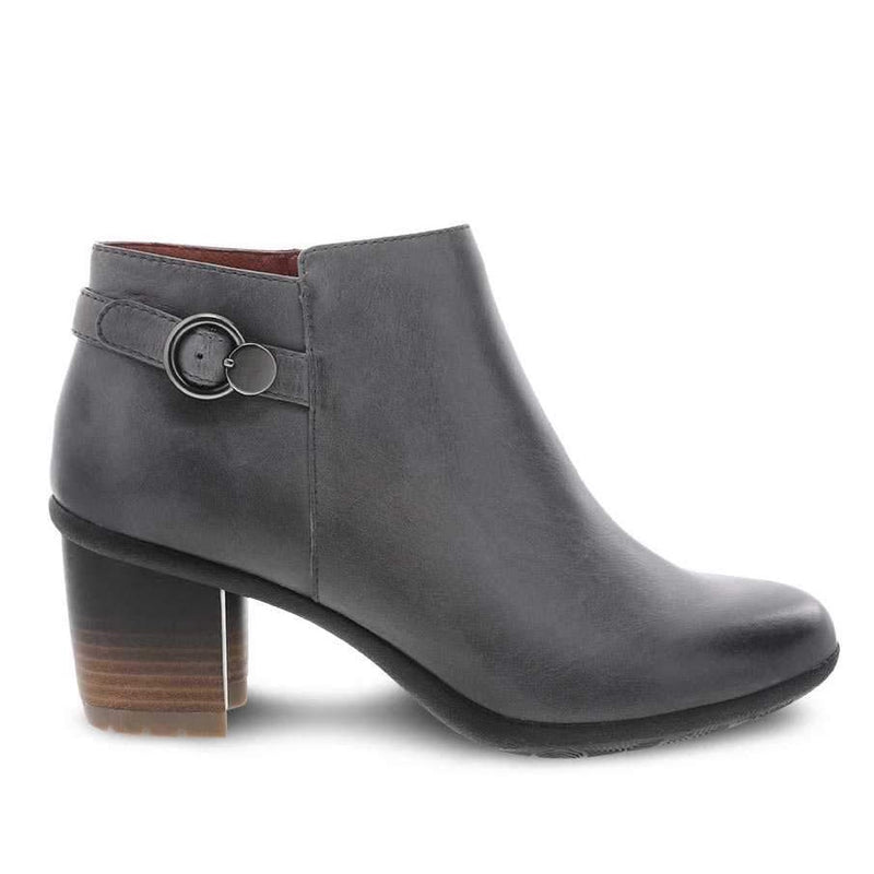 Women's Dansko Perry Bootie - Grey Waterproof Burnished