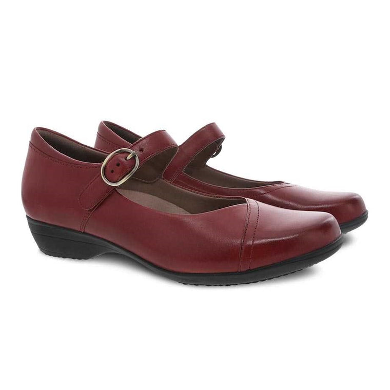 Women's Dansko Fawna Mary Jane - Red Burnished Calf