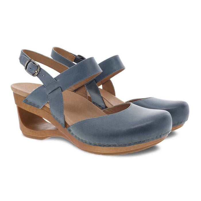 Women's Dansko Taci - Denim Waxy Calf