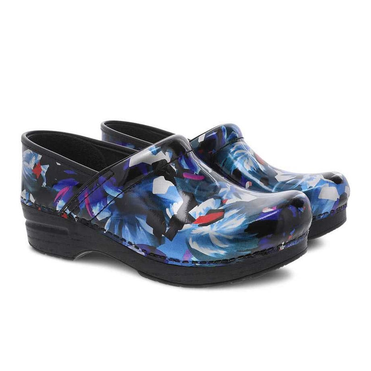 Women's Dansko Professional Clog - Graphic Floral Patent