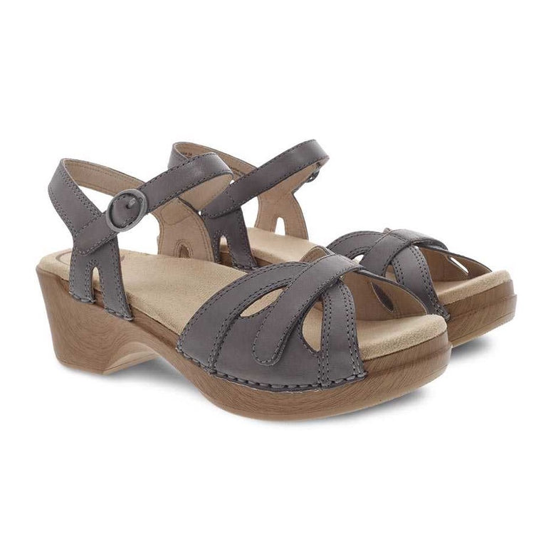 Dansko Women's Season Sandal - Stone Burnished Calf
