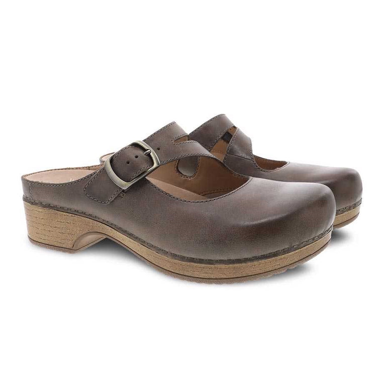 Women's Dansko Britney Mule - Stone Waxy Burnished