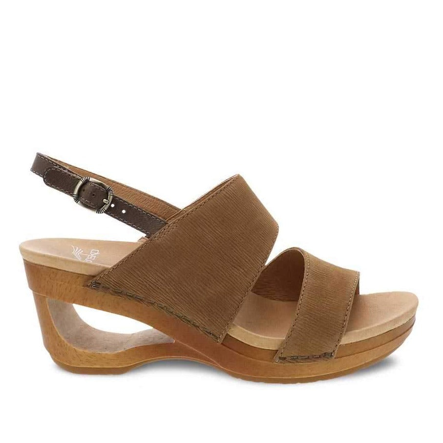 Dansko Women's Tamia Cutout Wedge - Honey Textured Nubuck