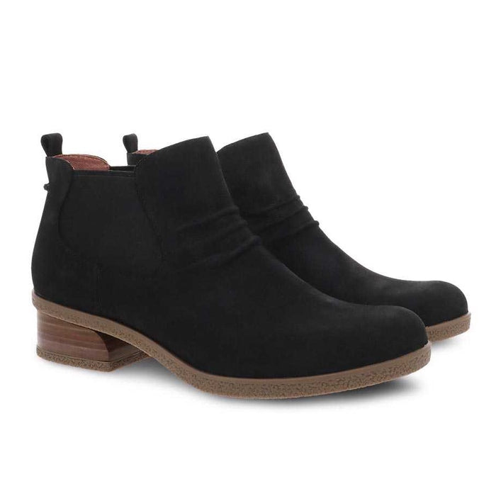 Dansko Women's Bea Bootie - Black Waterproof Nubuck