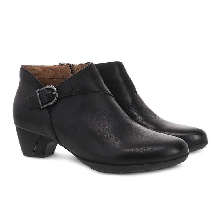 Dansko Women's Darbie Bootie - Black Burnished Nubuck
