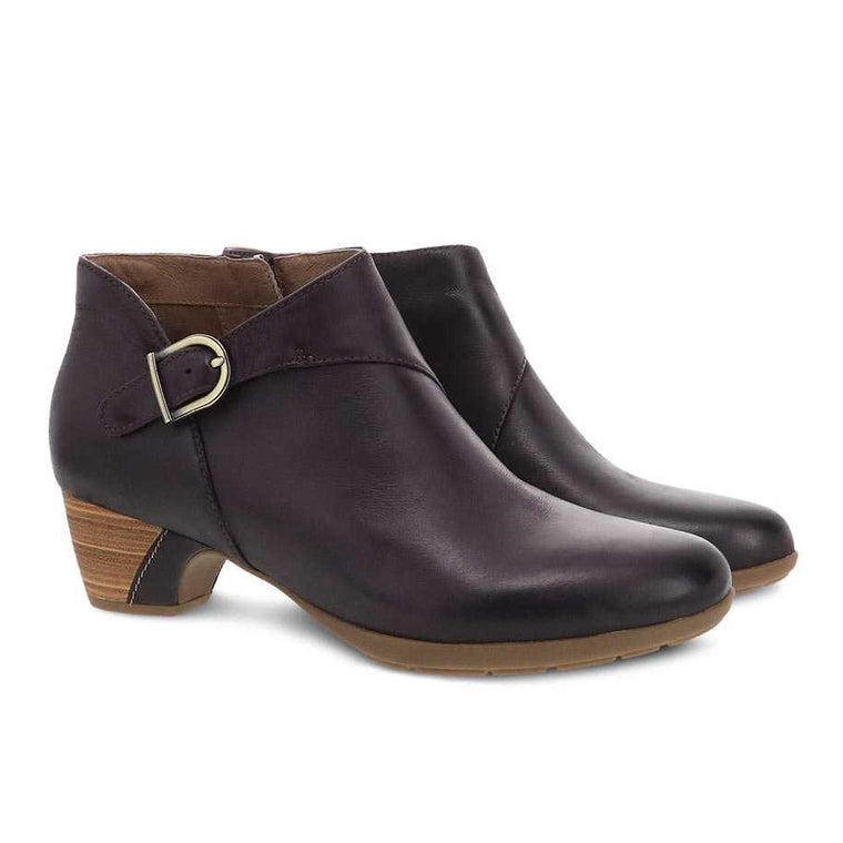 Dansko Women's Darbie Bootie - Fig Burnished Nubuck