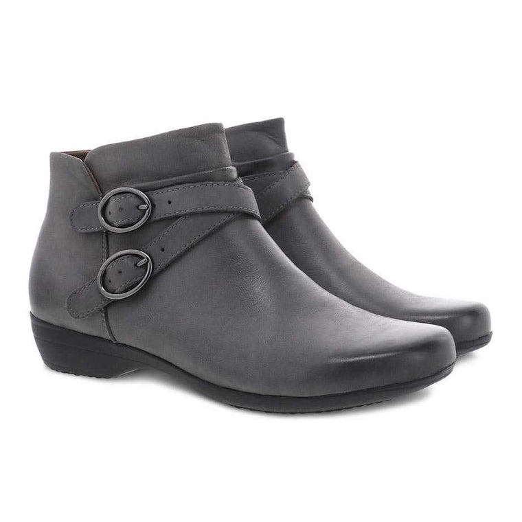 Dansko Women's Faithe Bootie - Grey Burnished Nubuck