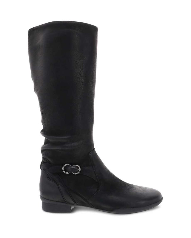Dansko Women's Kay Tall Boot - Black Burnished Nubuck
