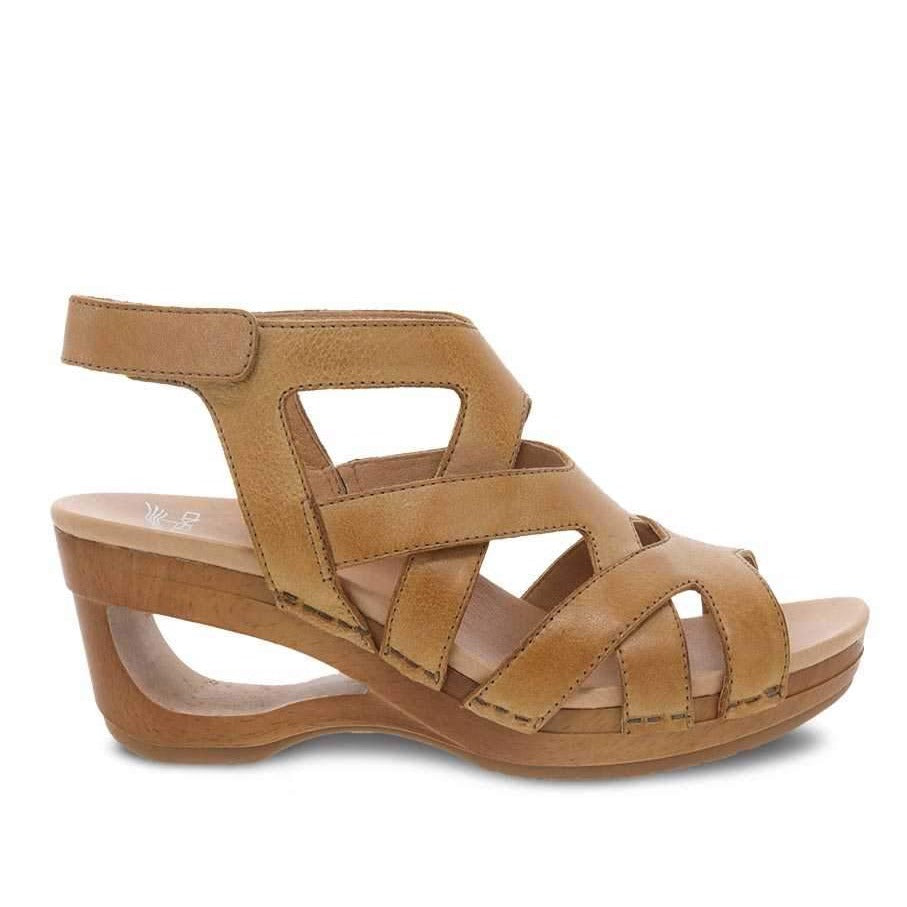 Dansko Women's Tempest Sandal - Tan Milled Burnished