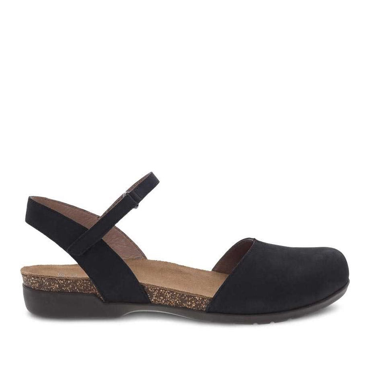 Dansko Women's Rowan Closed Toe Sandals - Black Nubuck