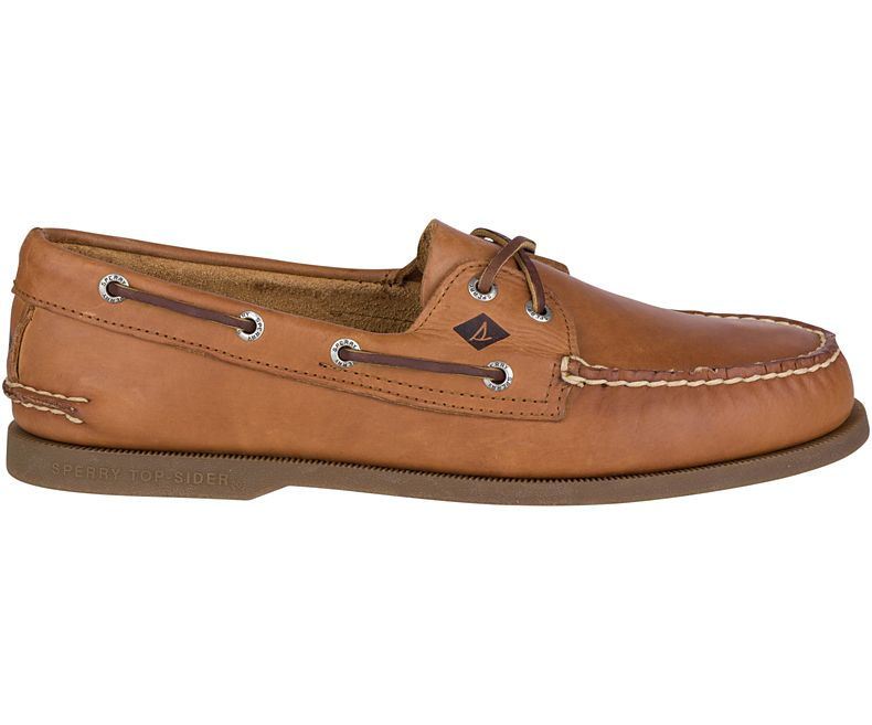 Sperry Men's Authentic Original Leather Boat Shoe - Sahara