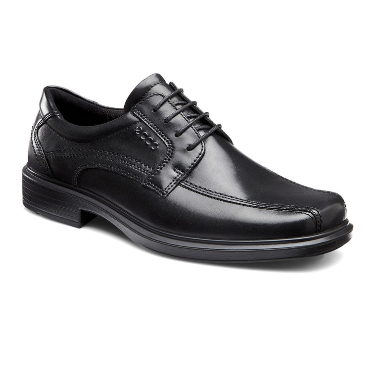 Men's Ecco Helsinki Bike Toe Lace Dress Shoes - Black