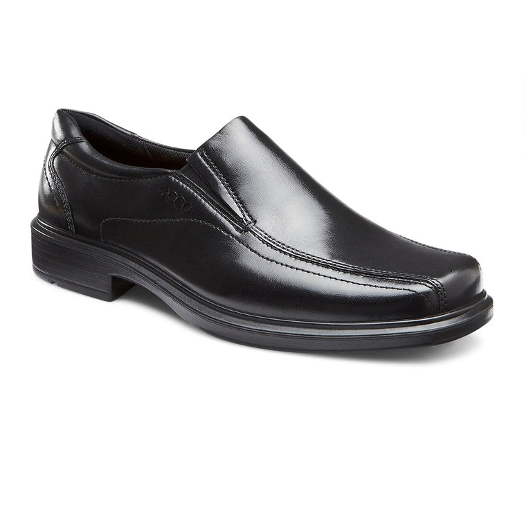 Men's Ecco Helsinki Bike Toe Slip On - Black