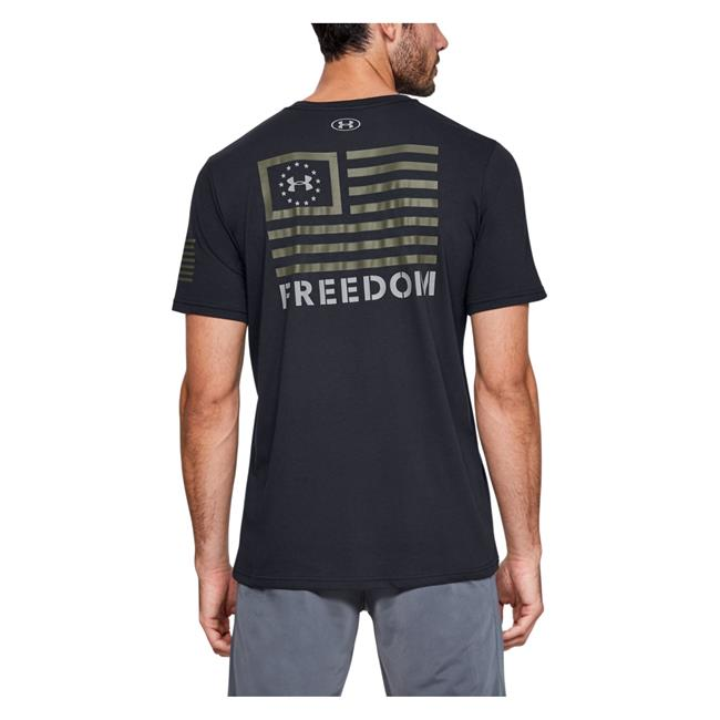 Under Armour Men's Freedom Banner T-Shirt - Black