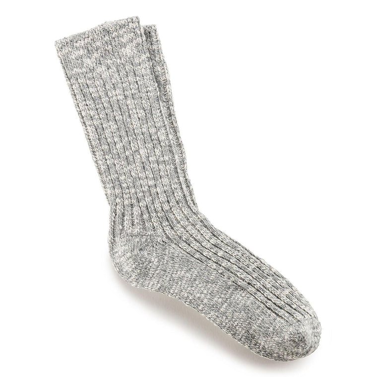 Birkenstock Cotton Slub Women's Socks - Gray/White