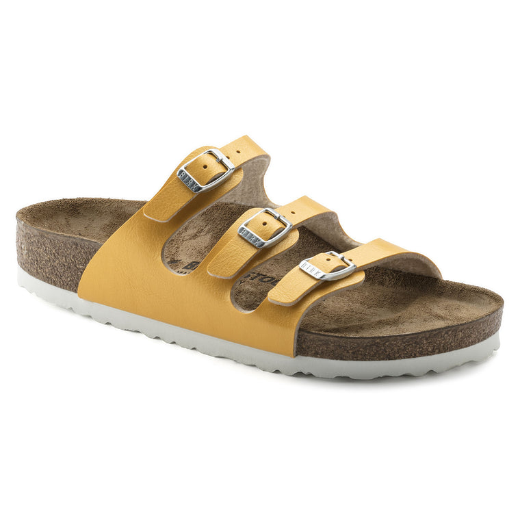 Women's Birkenstock Florida Graceful Amber Yellow Slides