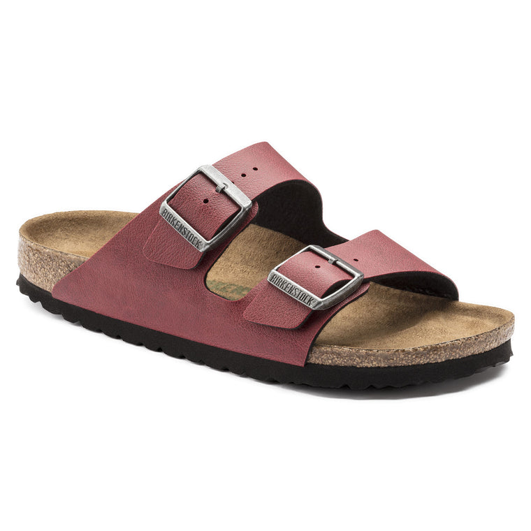 Women's Birkenstock Arizona Vegan Bordeaux Slides