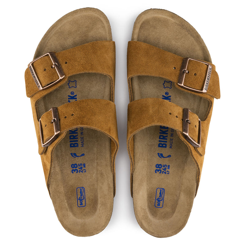Women's Birkenstock Arizona Soft Footbed Sandal - Mink Suede
