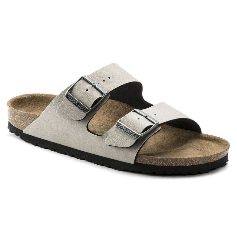 Women's Birkenstock Arizona Vegan Stone Slide Sandals