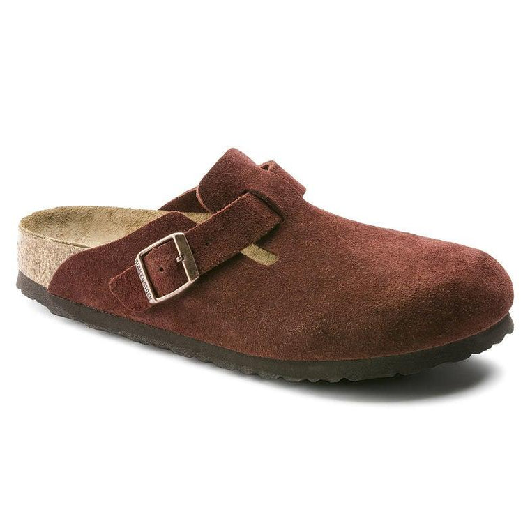 Birkenstock Women's Boston Soft Footbed Clogs - Port Suede