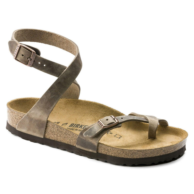 Women's Birkenstock Yara Tobacco Oiled Leather Sandals