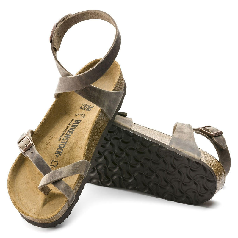 Women's Birkenstock Yara Leather Sandals - Tobacco