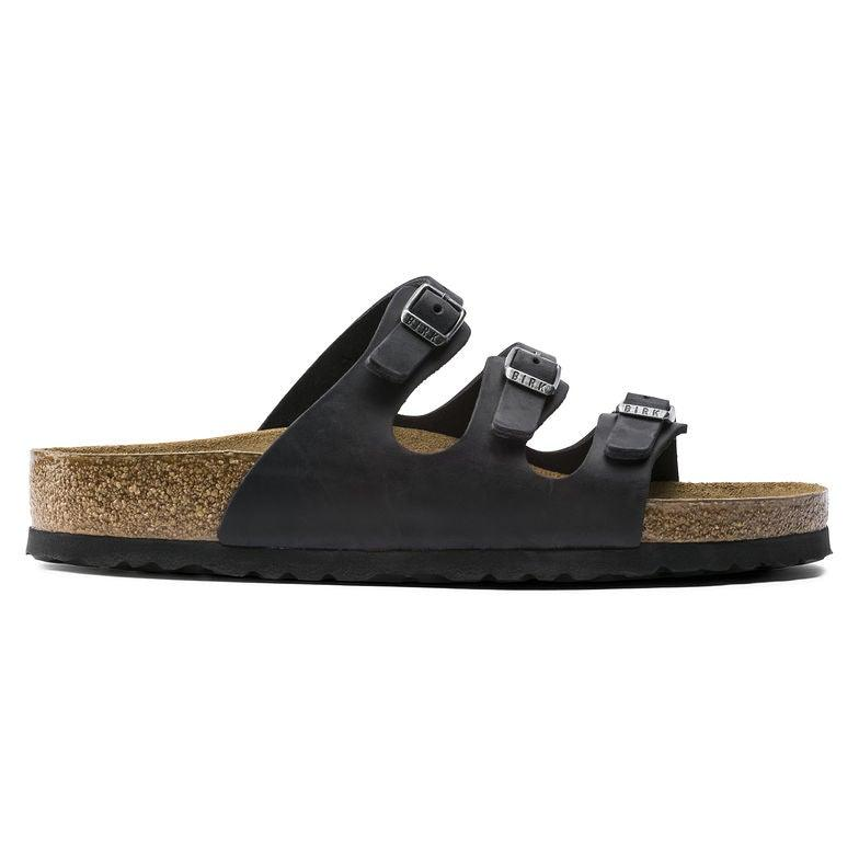 Women's Birkenstock Florida Soft Footbed - Black Oiled Leather