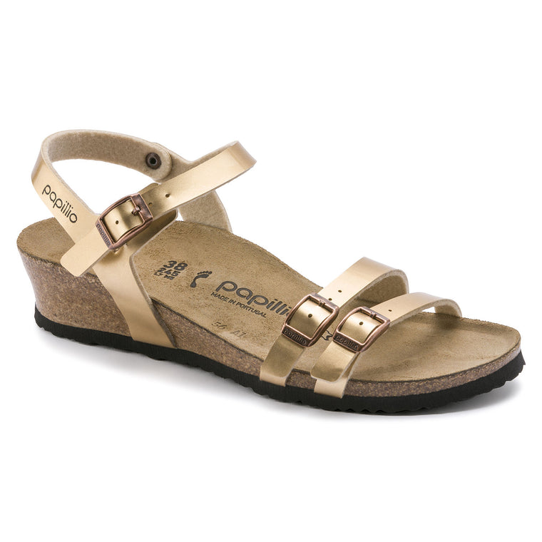 Women's Papillio Lana Wedge Sandal - Light Copper Birko-Flor