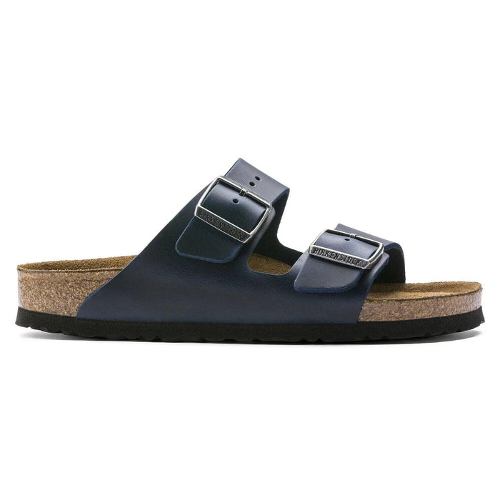 Birkenstock Women's Arizona Soft Footbed Sandal - Blue Oiled Leather